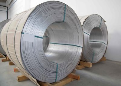 Thick aluminium wire spool